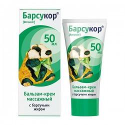 Бальзам-крем, Барсукор массажный для взрослых 50 мл